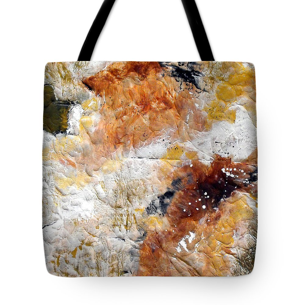 Abstract Tote Bag featuring the painting Fear Of The Unknown Close-up by Ruth Palmer