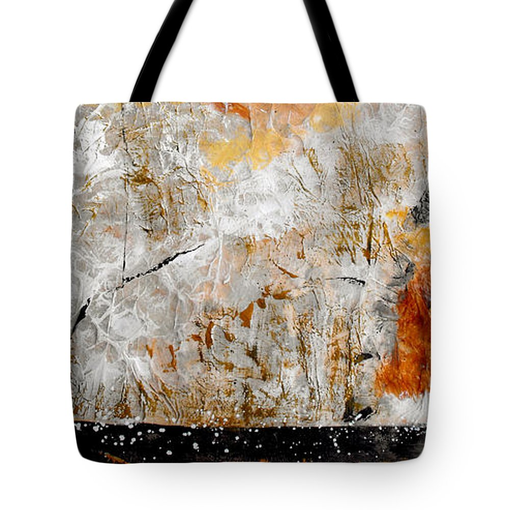 Abstract Tote Bag featuring the painting Fear Of The Unknown by Ruth Palmer