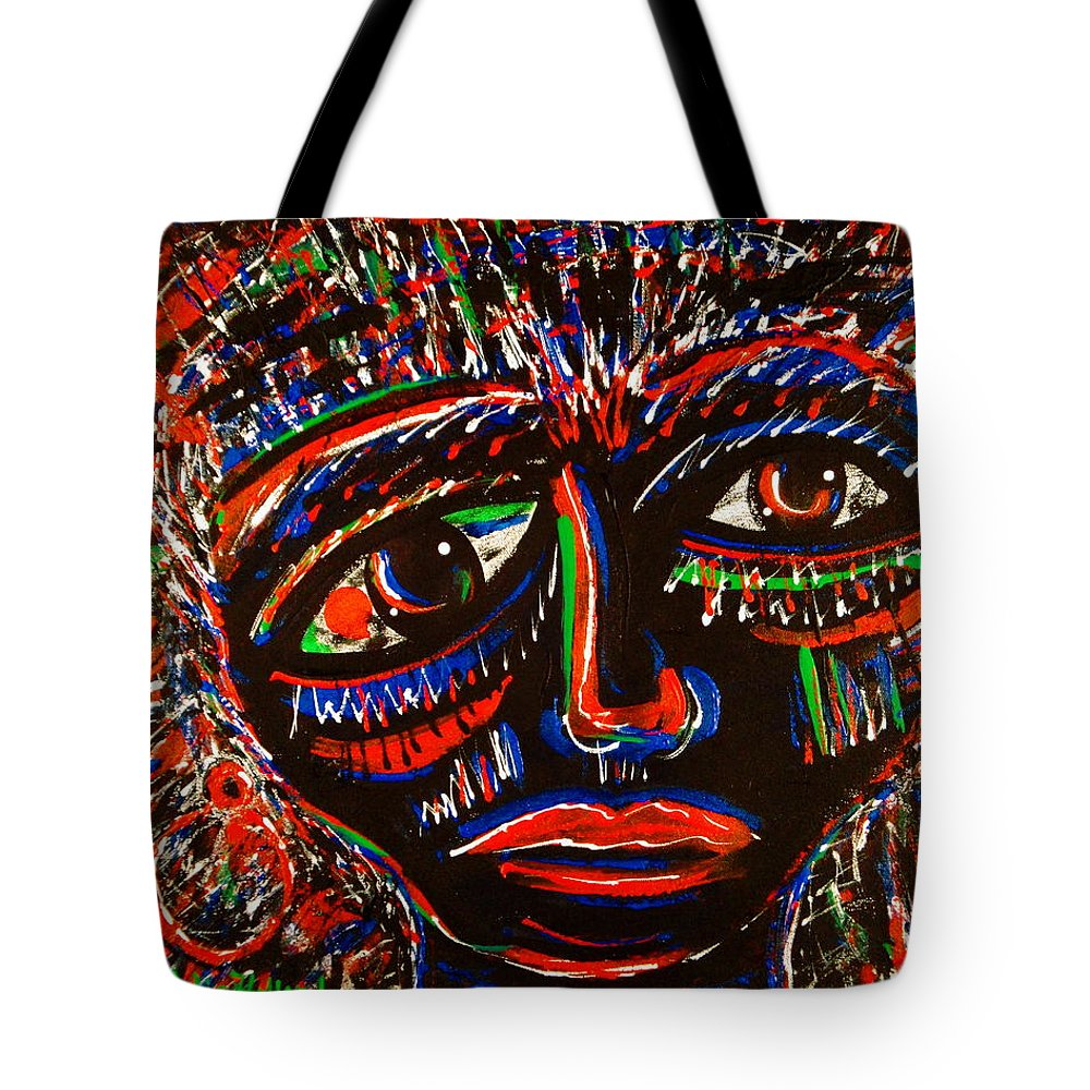 Expressionism Tote Bag featuring the painting Fearless by Natalie Holland