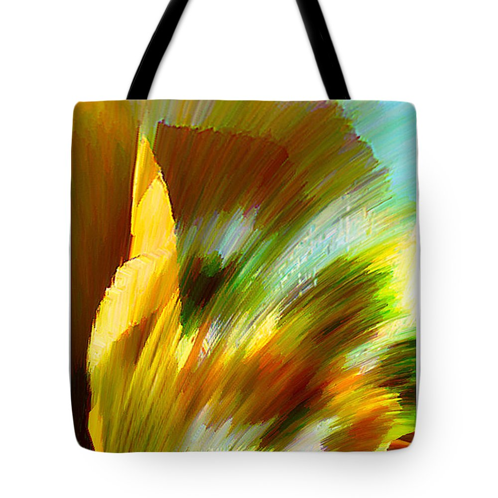 Landscape Digital Art Watercolor Water Color Mixed Media Tote Bag featuring the digital art Feather by Anil Nene
