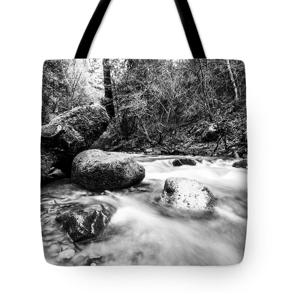 Stream Tote Bag featuring the photograph Feather Falls Stream by Jason Stanton