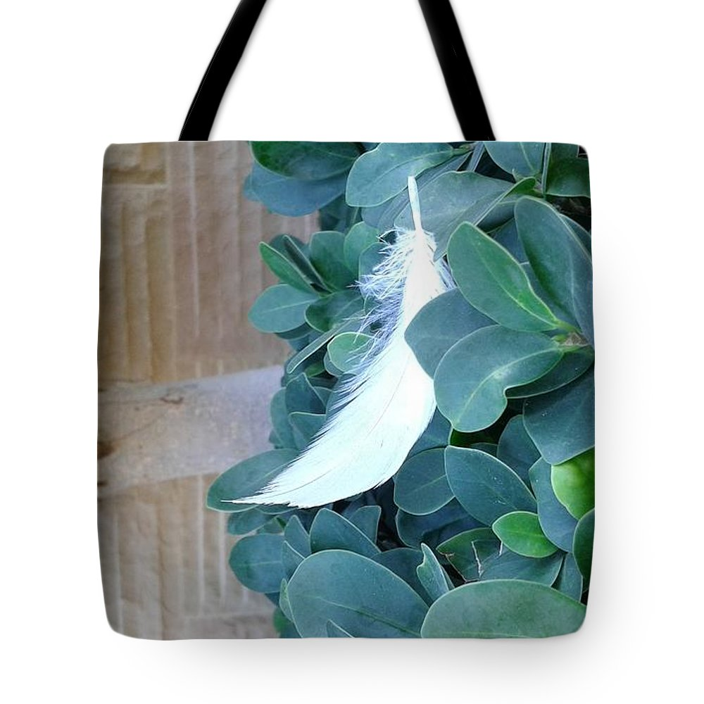 Beauty Full Natural Tote Bag featuring the photograph Feather by Maha Ahmed