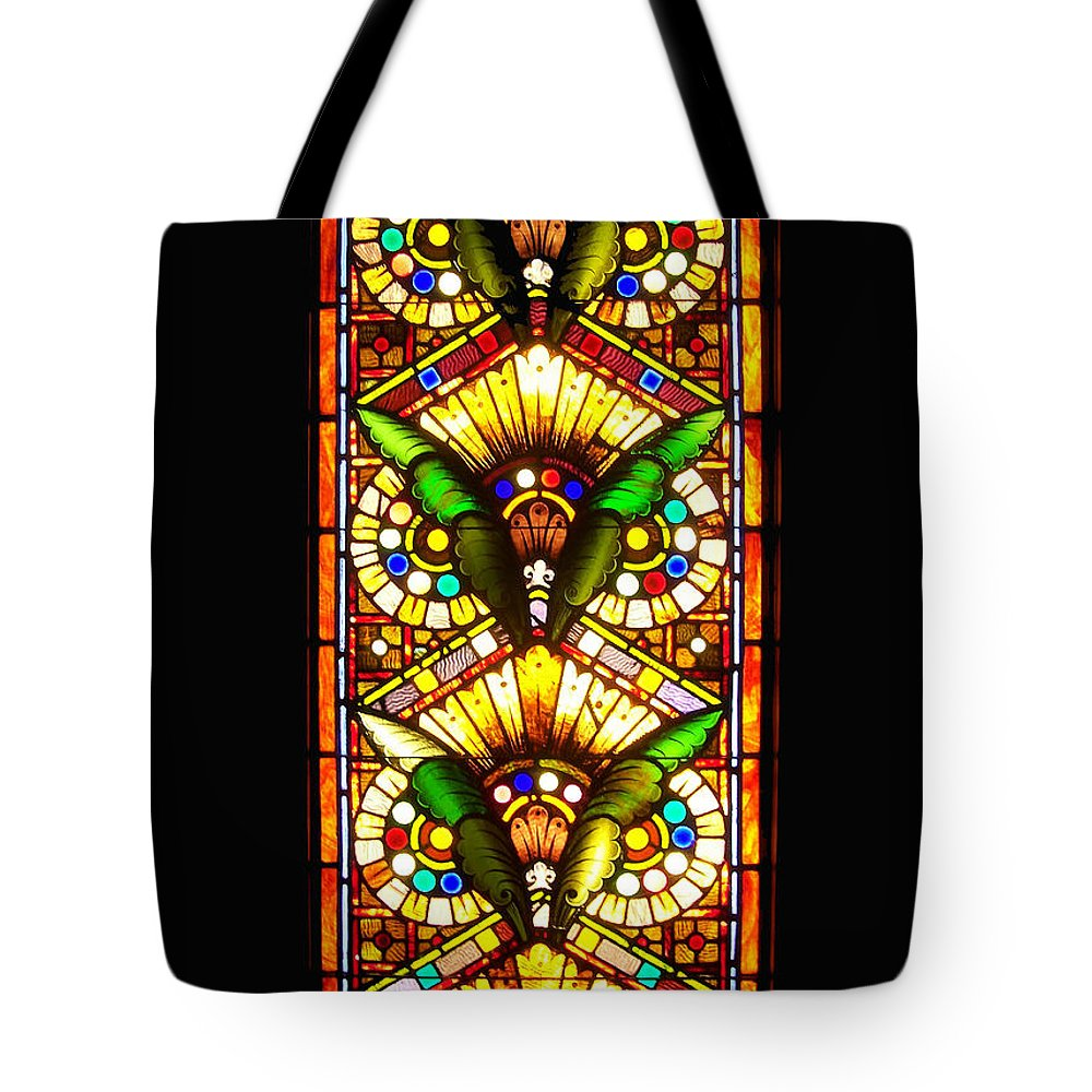 Stained Glass Tote Bag featuring the photograph Feathered Folly by Donna Blackhall