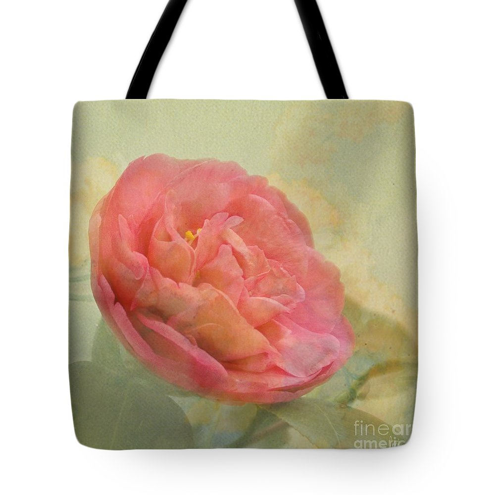 Camellia Tote Bag featuring the photograph February Camellia by Cindy Garber Iverson