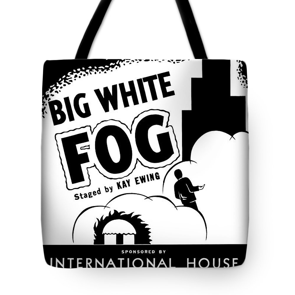 Federal Theatre Presents Big White Fog Tote Bag featuring the painting Federal Theatre Presents Big White Fog by Celestial Images
