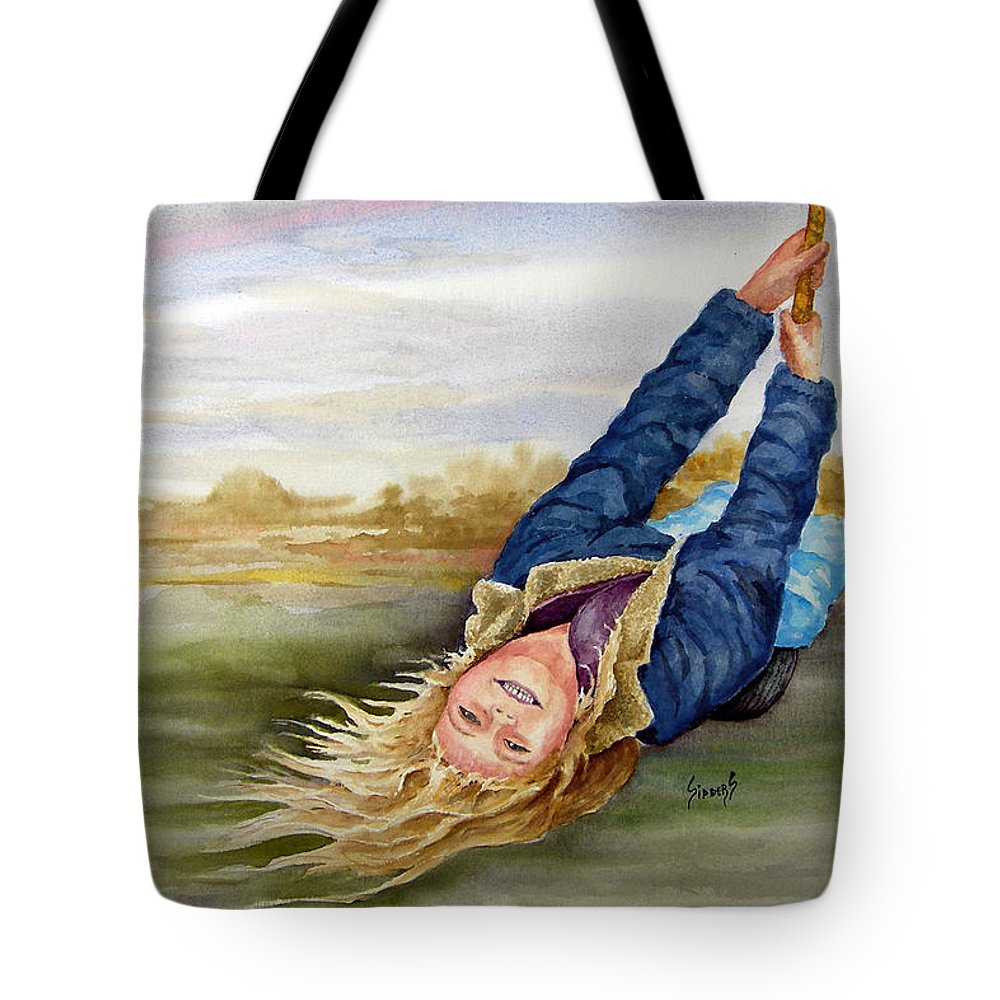 Seing Tote Bag featuring the painting Feelin The Wind by Sam Sidders