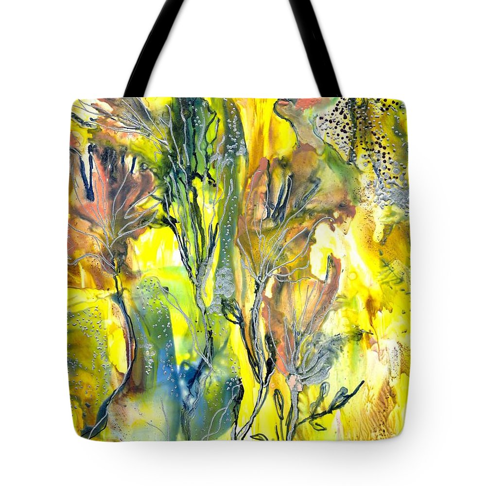 Healing Tote Bag featuring the painting Feeling Of The Heart by Heather Hennick
