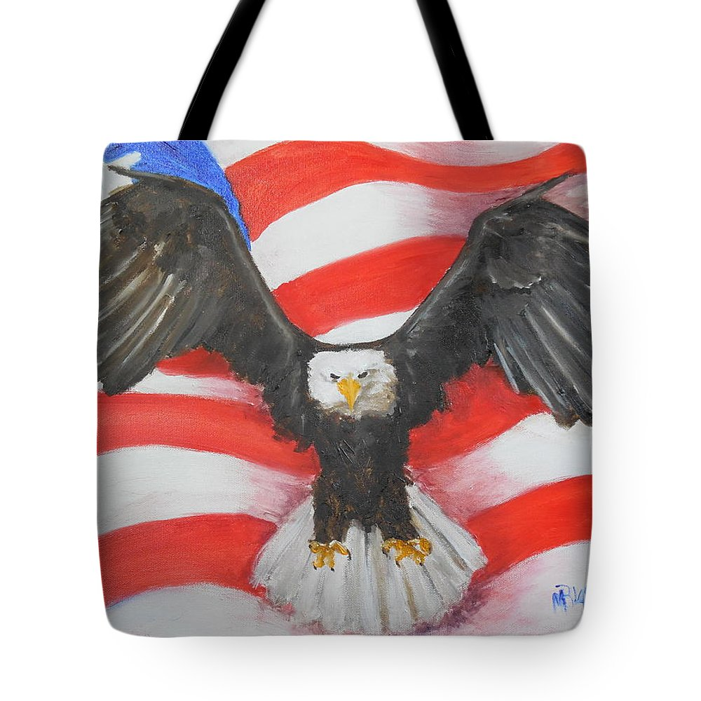 Eagle Tote Bag featuring the painting Feeling Patriotic by Melissa Hill