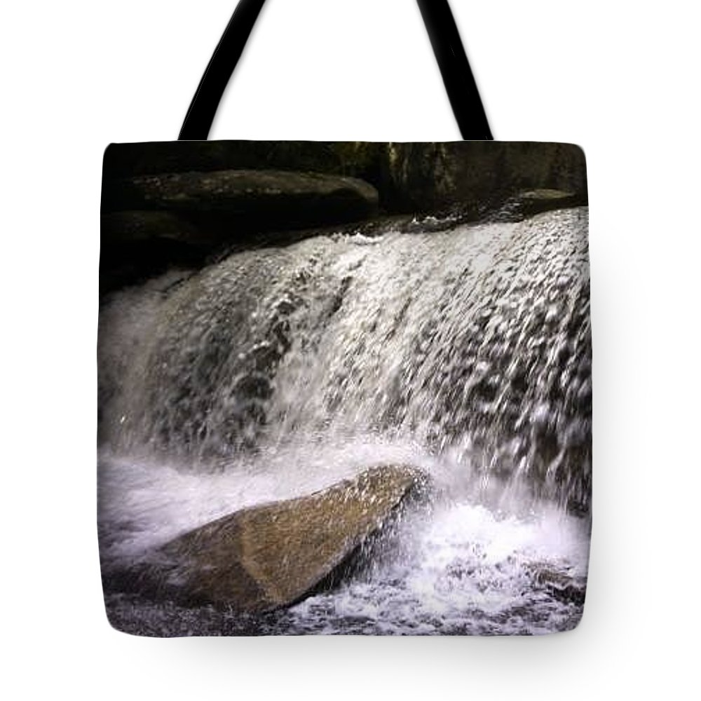 Waterfall Tote Bag featuring the photograph Feeling The Falls by Kristine Nutt