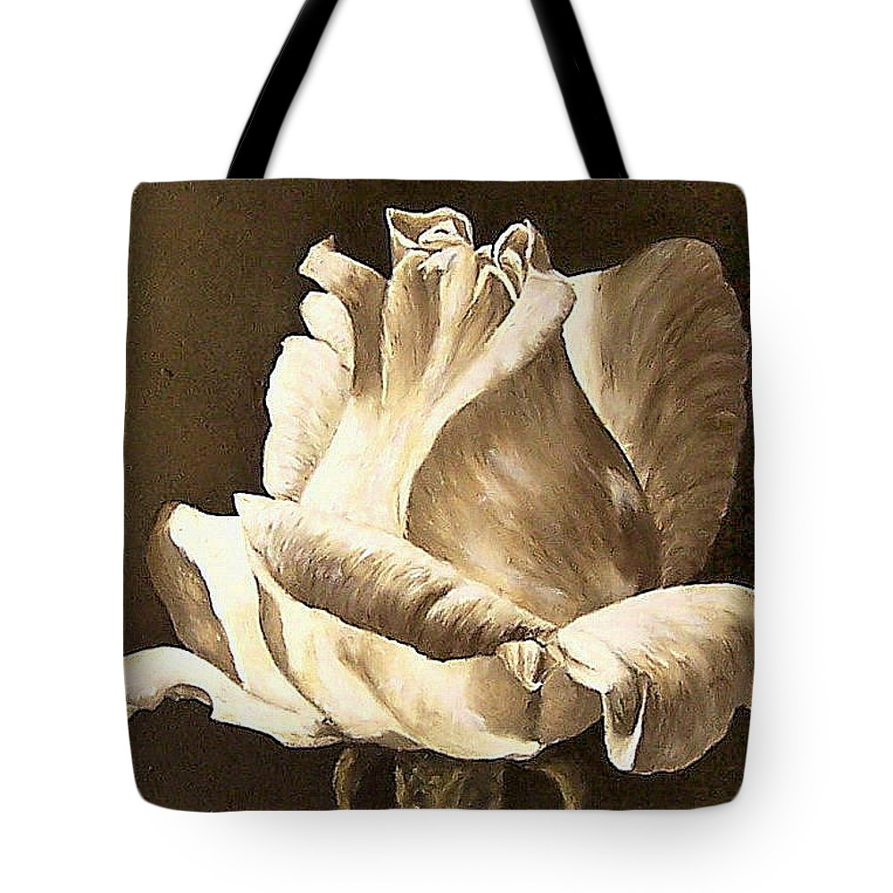Rose Flower Tote Bag featuring the painting Feeling The Light by Natalia Tejera