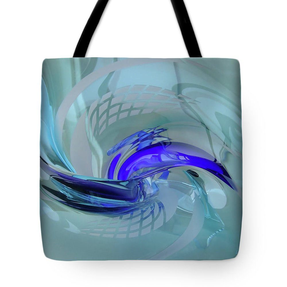 Glass Tote Bag featuring the photograph Feeling Tiffany Blue by Donna Blackhall