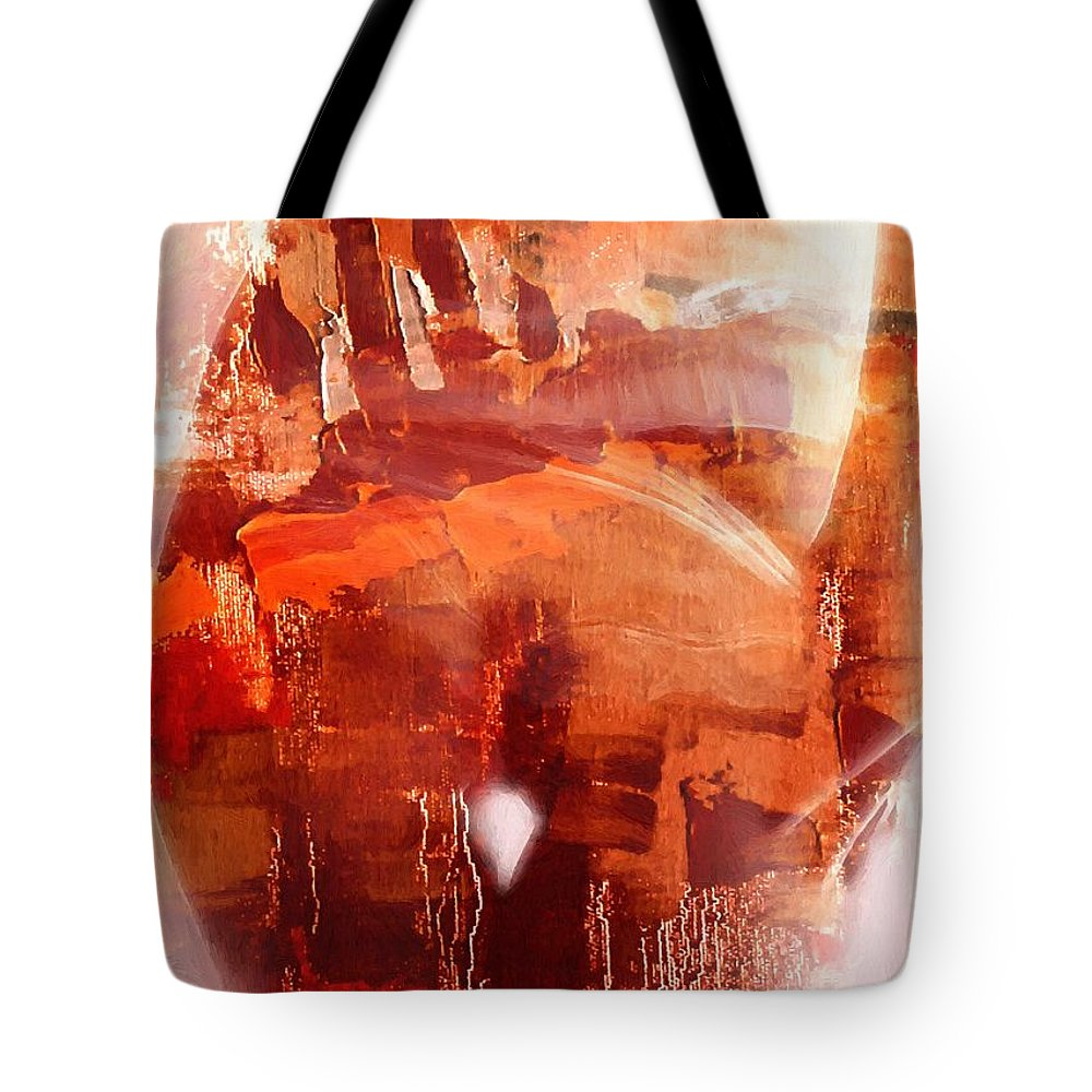 Female Landscape Woman Girl Butt Backside Abstract Oil Nude Sexy Erotic Sexual Tote Bag featuring the painting Female Landscape by Steve K