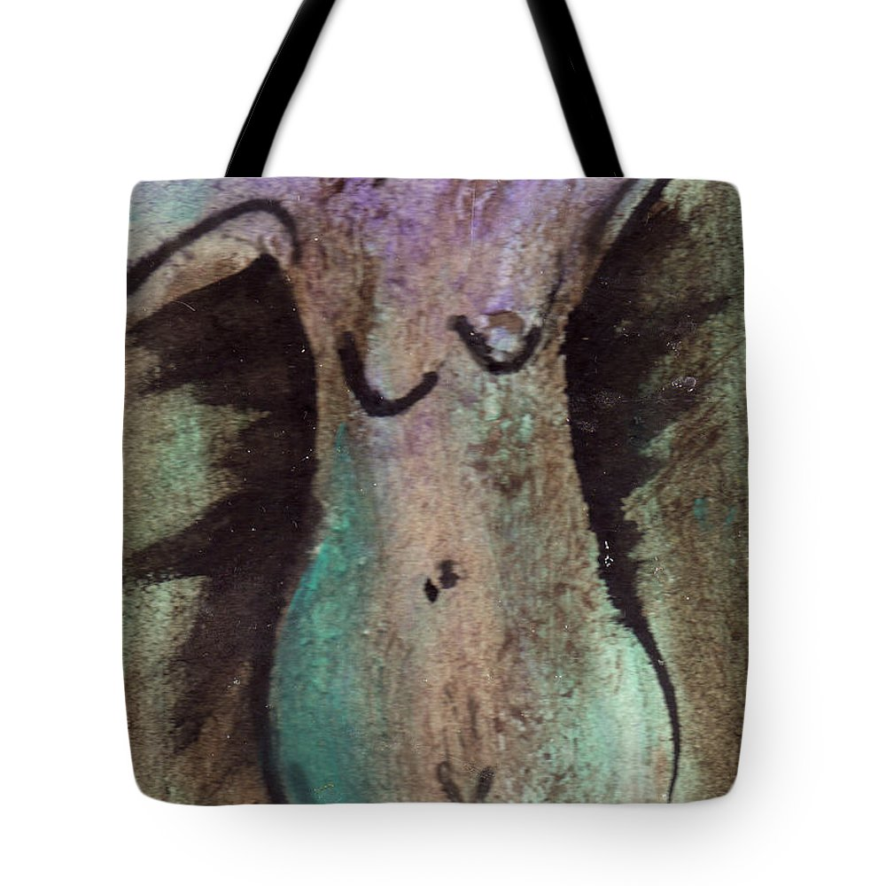 Nude Tote Bag featuring the painting Female Nude Torso 1 by Wayne Potrafka