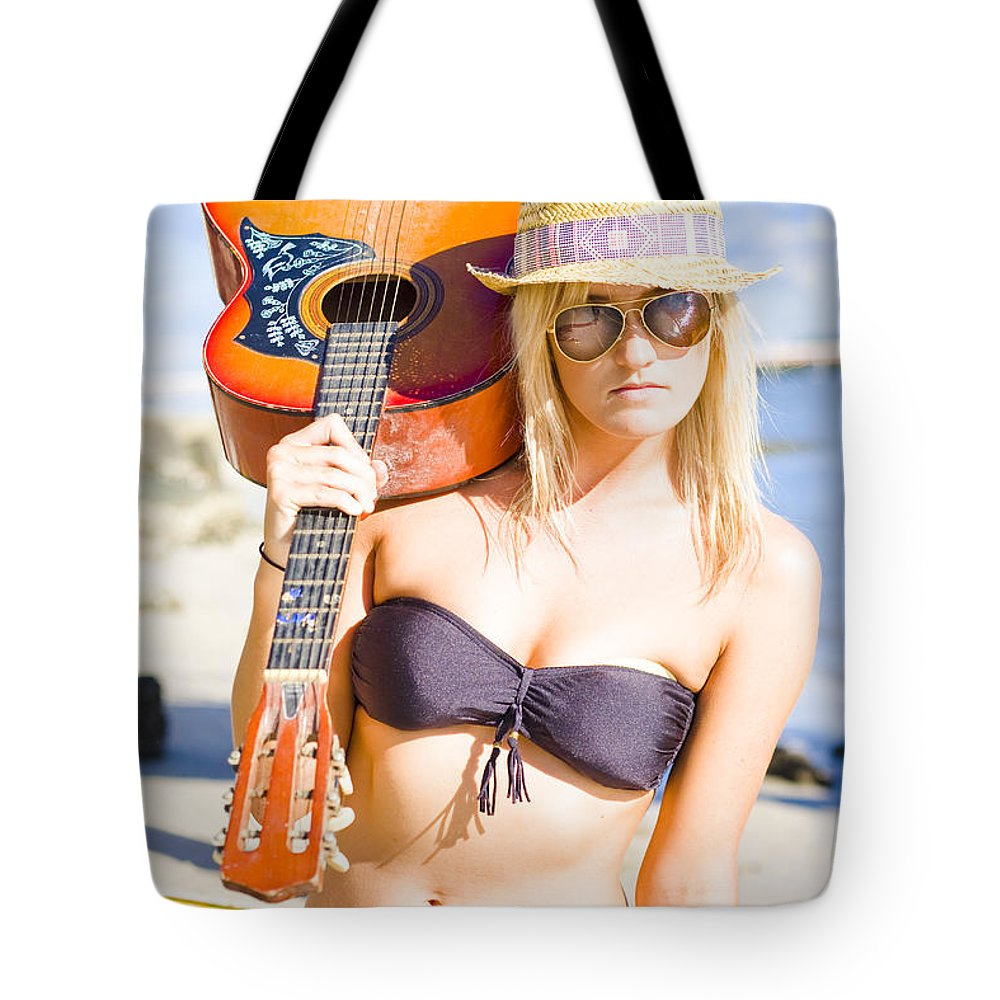 Tropical Tote Bag featuring the photograph Female Performing Artist by Jorgo Photography - Wall Art Gallery