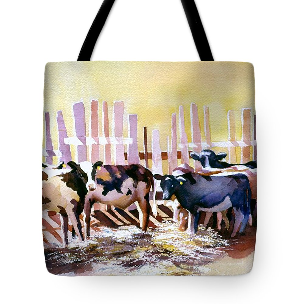 Animal Tote Bag featuring the painting Fenced In by Connie Williams