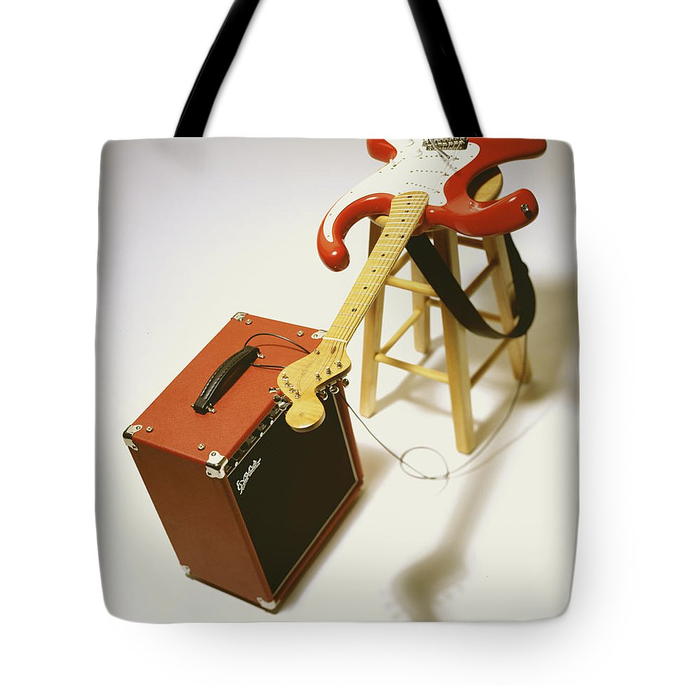 Guitar Tote Bag featuring the photograph Fender Bender by Robert Ponzoni