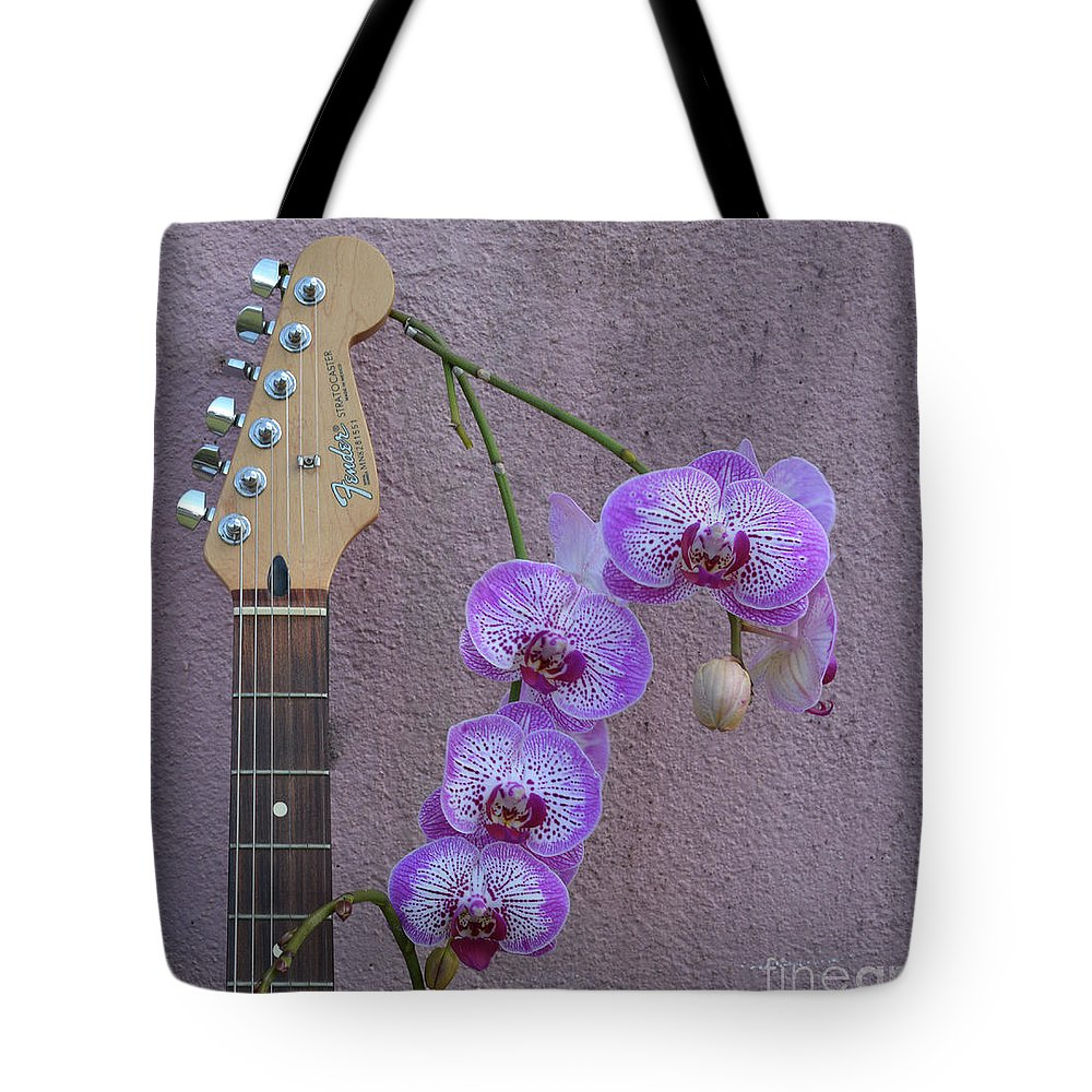 Fender Tote Bag featuring the photograph Fender Still Life by To-Tam Gerwe