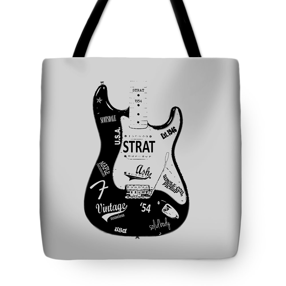 Fender Stratocaster Tote Bag featuring the photograph Fender Stratocaster 54 by Mark Rogan