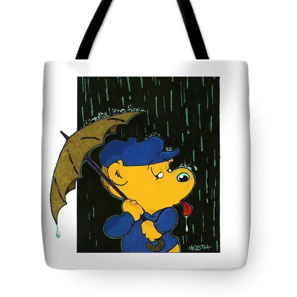 Ferald Tote Bag featuring the painting Ferald's Taste Of Rain by Keith Williams