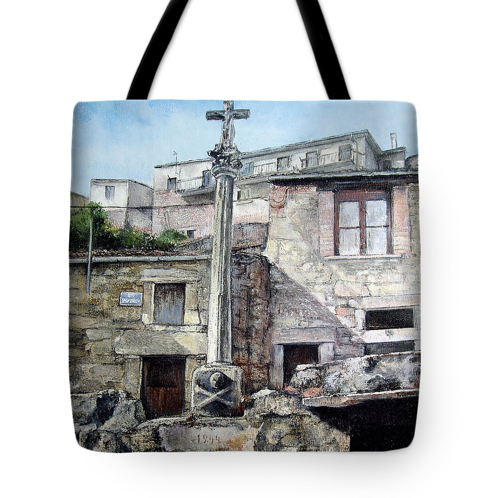 Fermoselle Tote Bag featuring the painting Fermoselle.-crucero by Tomas Castano