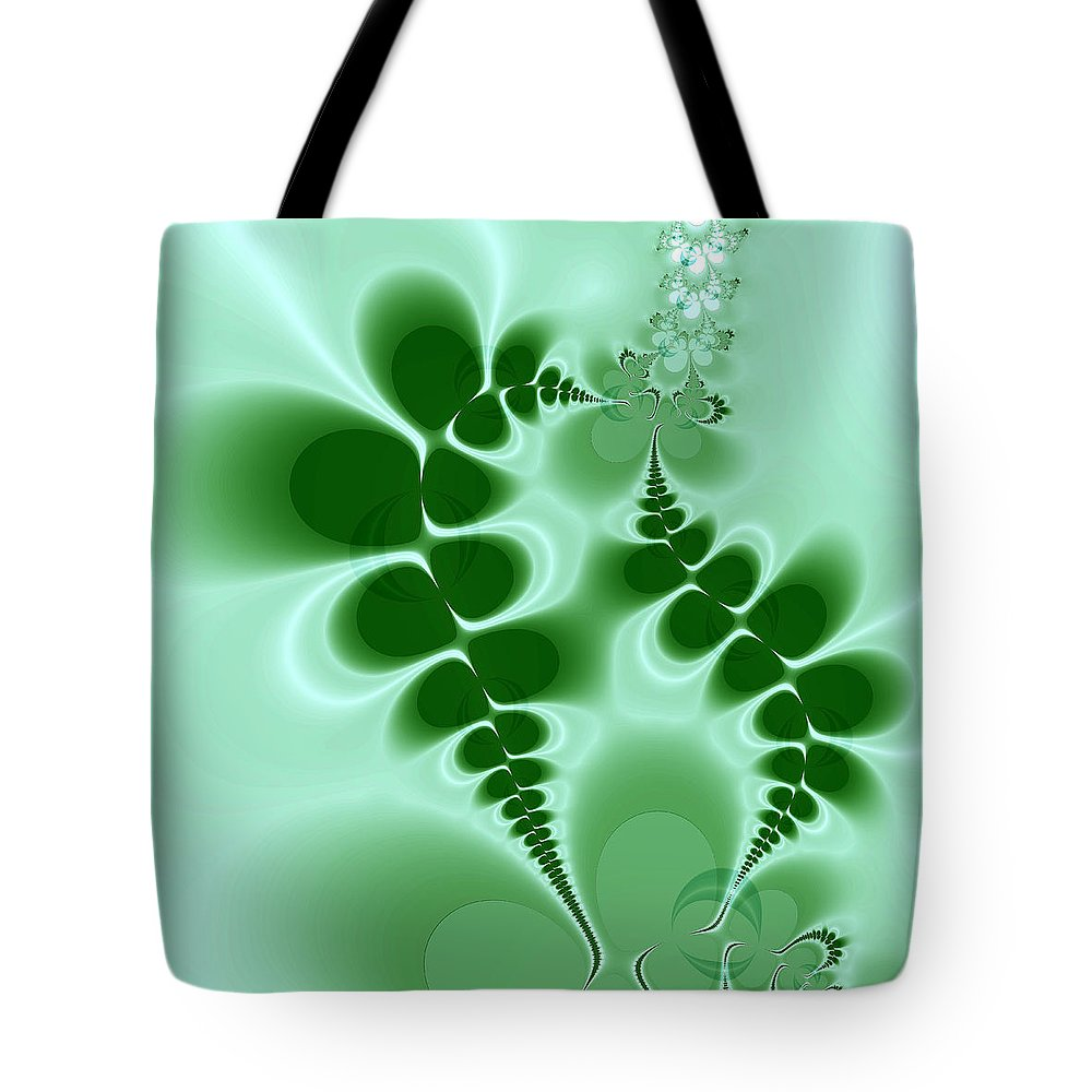 Digital Art Tote Bag featuring the digital art Ferns by Amanda Moore