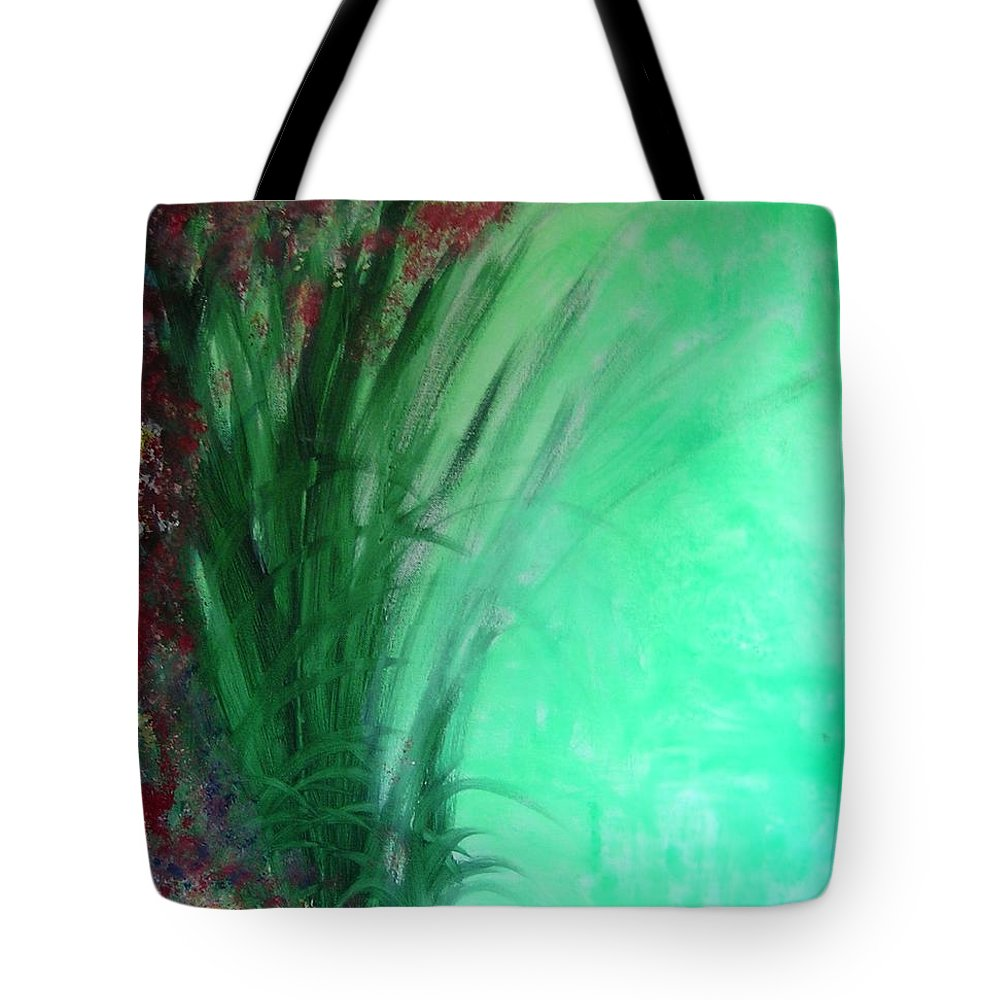 Green Ferns Tote Bag featuring the painting Ferns by Lizzy Forrester
