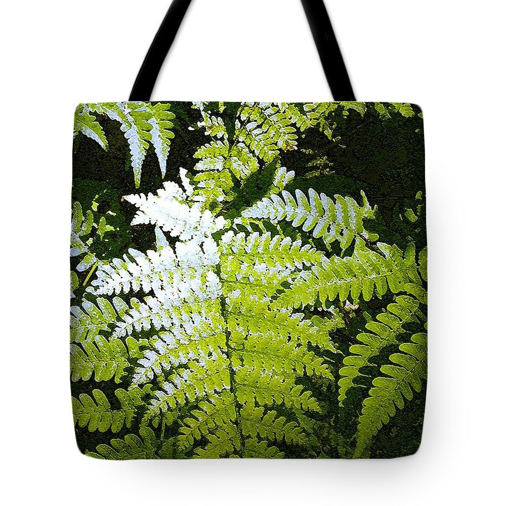 Ferns Tote Bag featuring the photograph Ferns by Nelson Strong