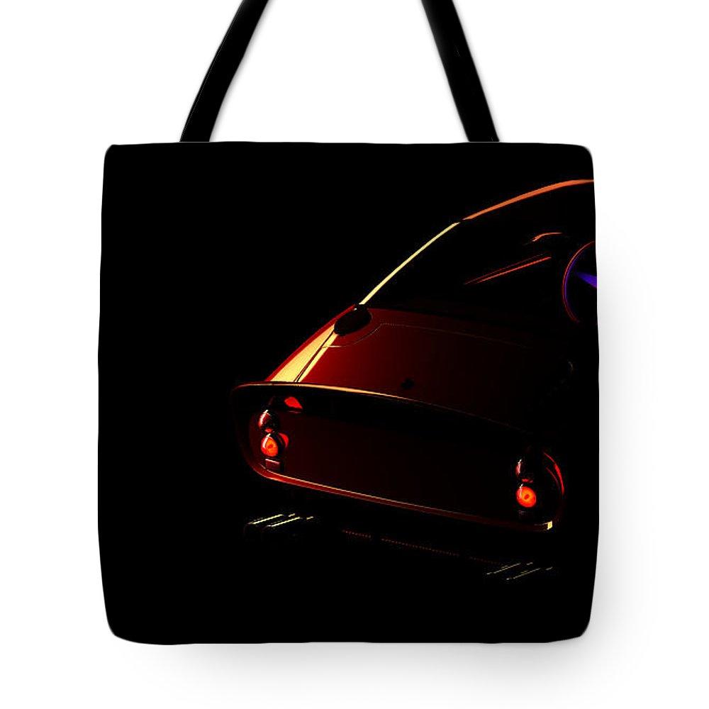 Car Tote Bag featuring the digital art Ferrari 250 Gto 002 by Alex Rota