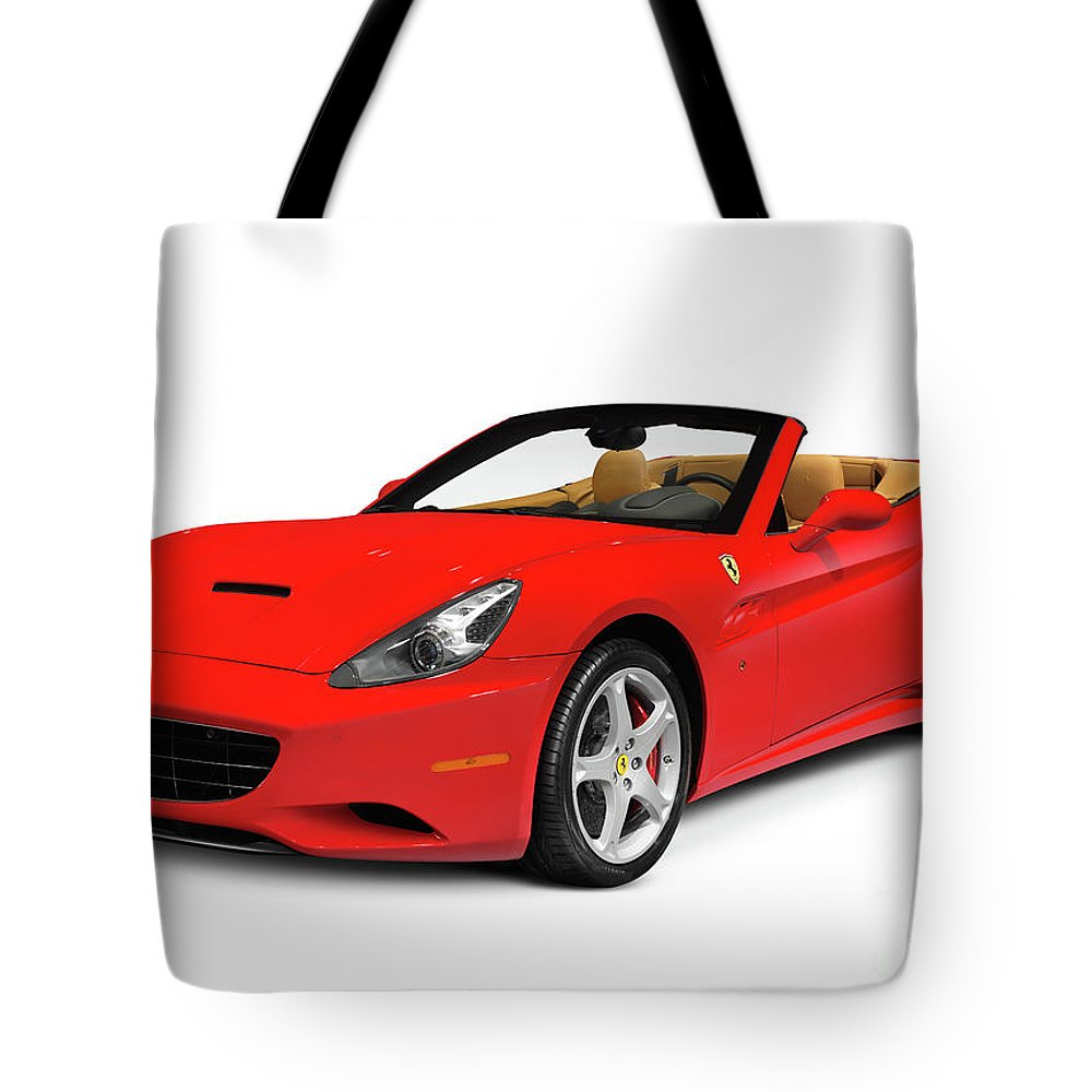 Ferrari Tote Bag featuring the photograph Ferrari California by Oleksiy Maksymenko