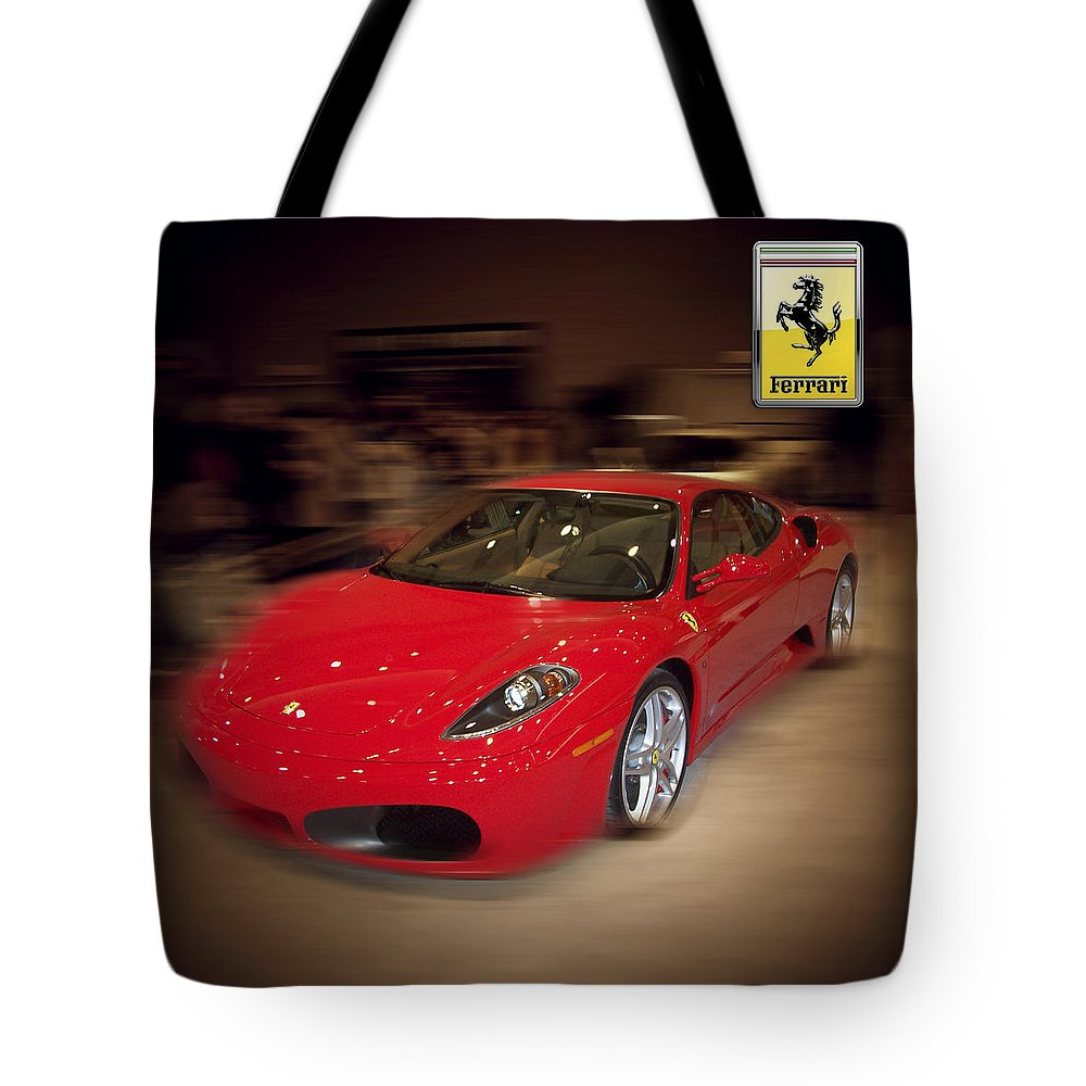 �auto Corner� Collection By Serge Averbukh Tote Bag featuring the photograph Ferrari F430 - The Red Beast by Serge Averbukh