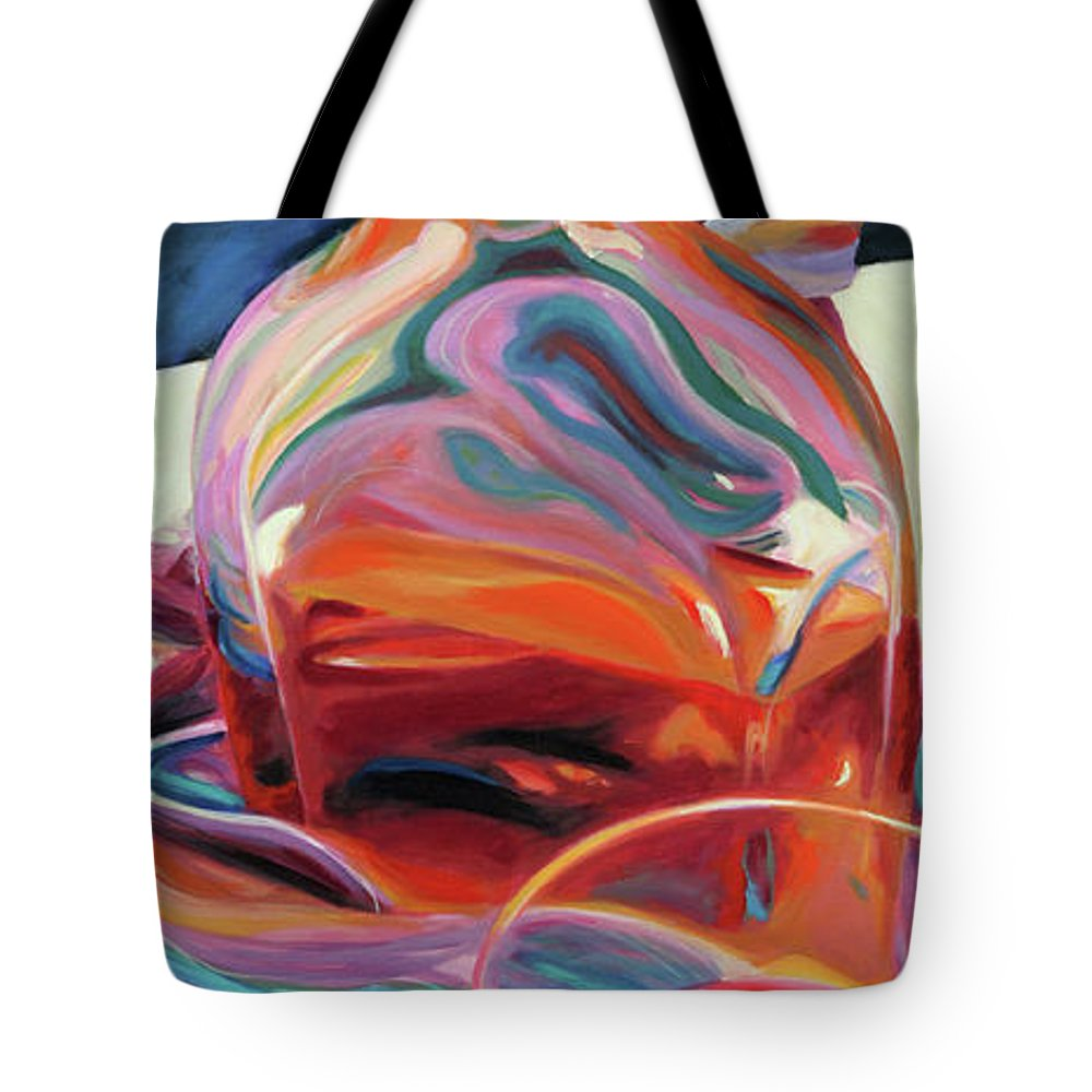 Glass Tote Bag featuring the painting Fervor by Trina Teele