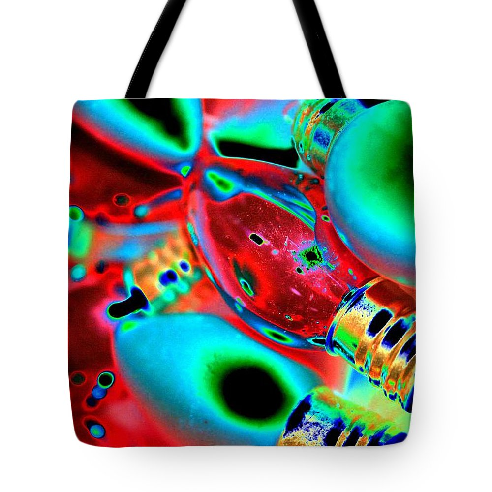 Christmas Tote Bag featuring the photograph Festive Lights Of Christmas by Tiffany Vest