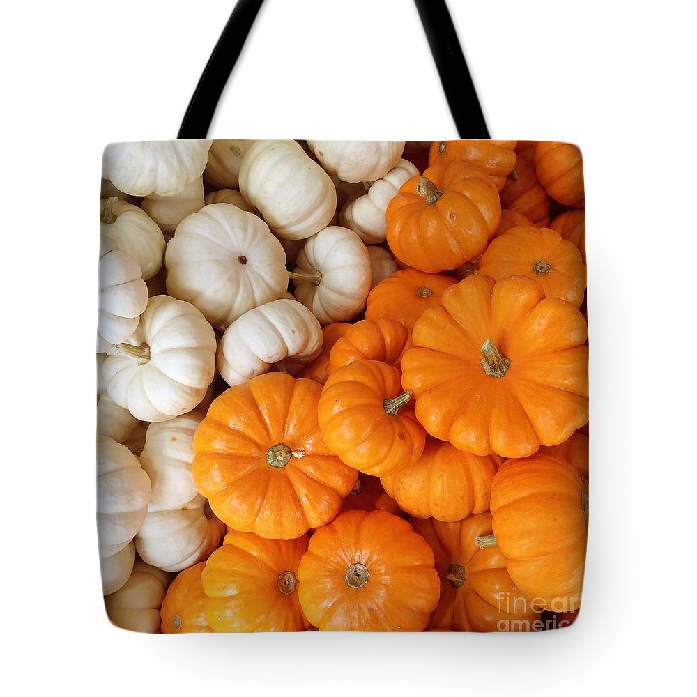 Pumpkins Tote Bag featuring the photograph Festive Pumpkins by Onedayoneimage Photography