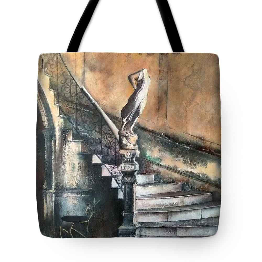 Old Havana Tote Bag featuring the painting Fidel by Tomas Castano