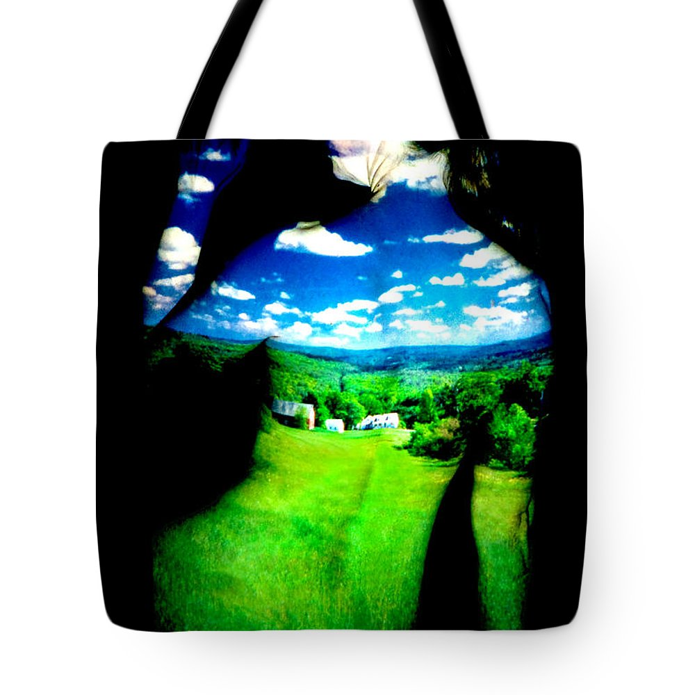 Field Tote Bag featuring the photograph Field Girl by Greg Fortier