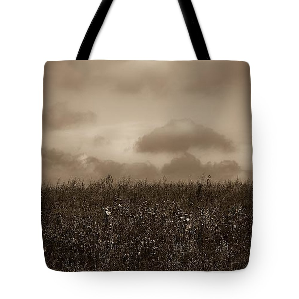 Poland Tote Bag featuring the photograph Field In Sepia Northern Poland by Michael Ziegler