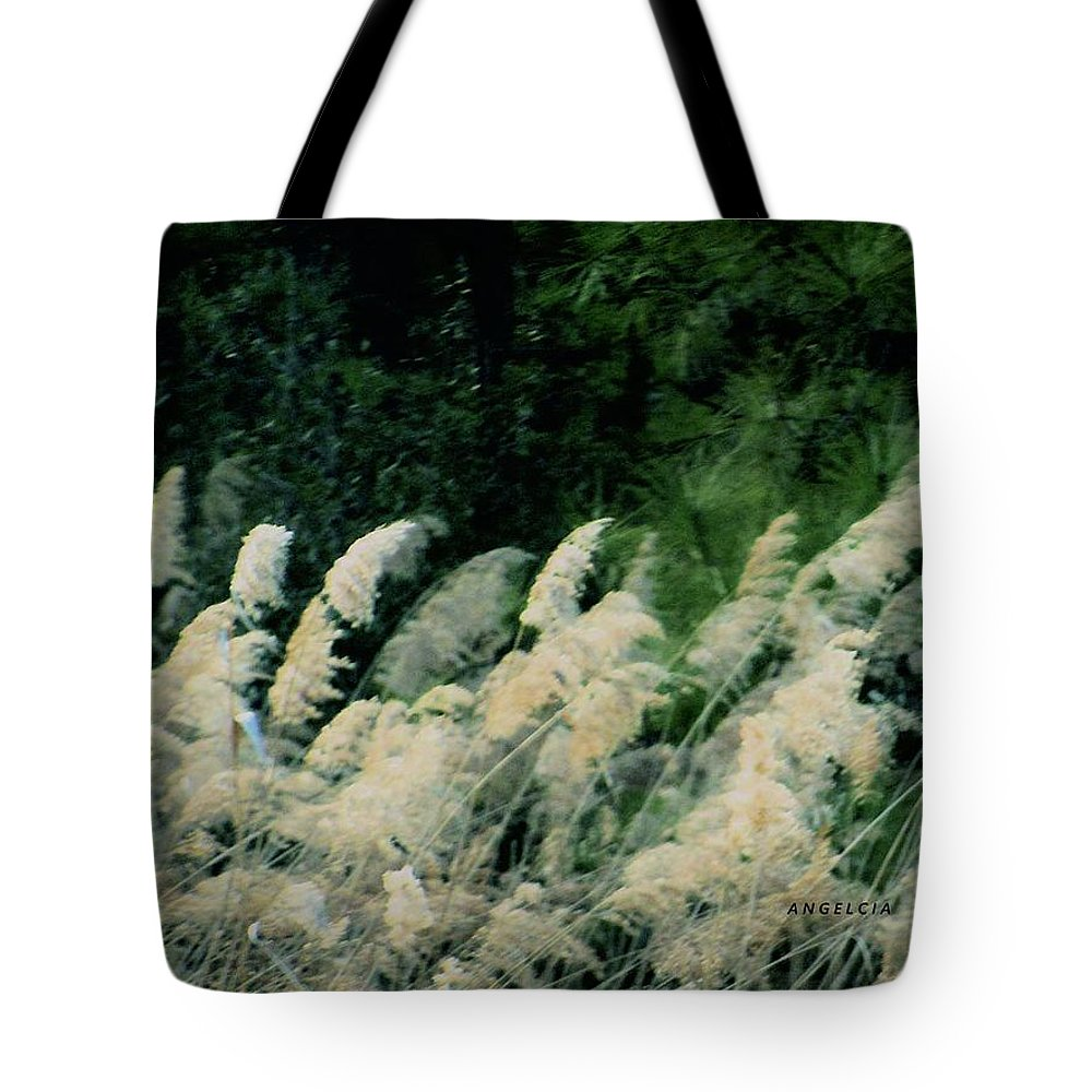 White Grass Tote Bag featuring the photograph Field Of Dreams by Angelcia Wright