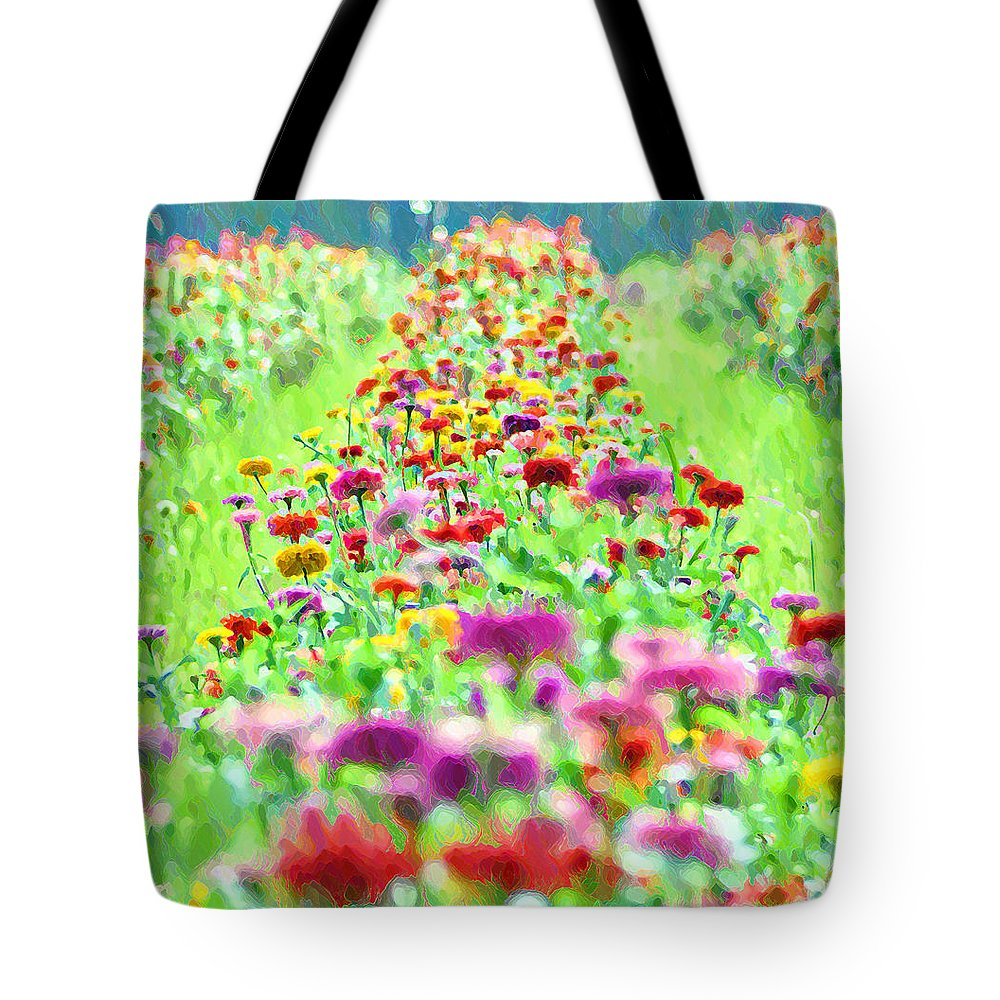 Flower Tote Bag featuring the photograph Field Of Flowers by Bill Cannon