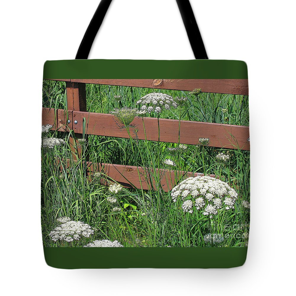 Flower Tote Bag featuring the photograph Field Of Lace by Ann Horn