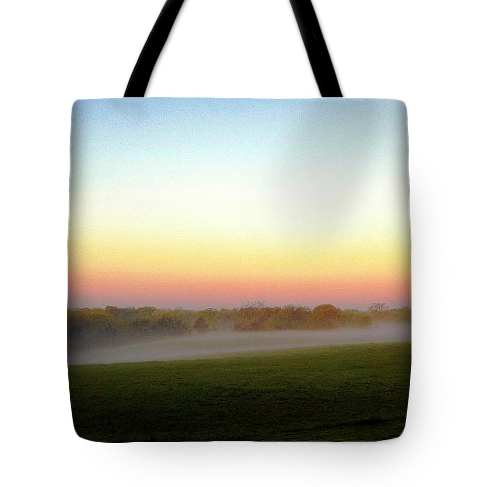 Fog Tote Bag featuring the photograph Fields Of Fog by Cricket Hackmann
