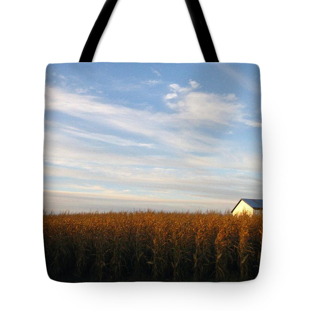 Country Tote Bag featuring the photograph Fields Of Gold by Rhonda Barrett