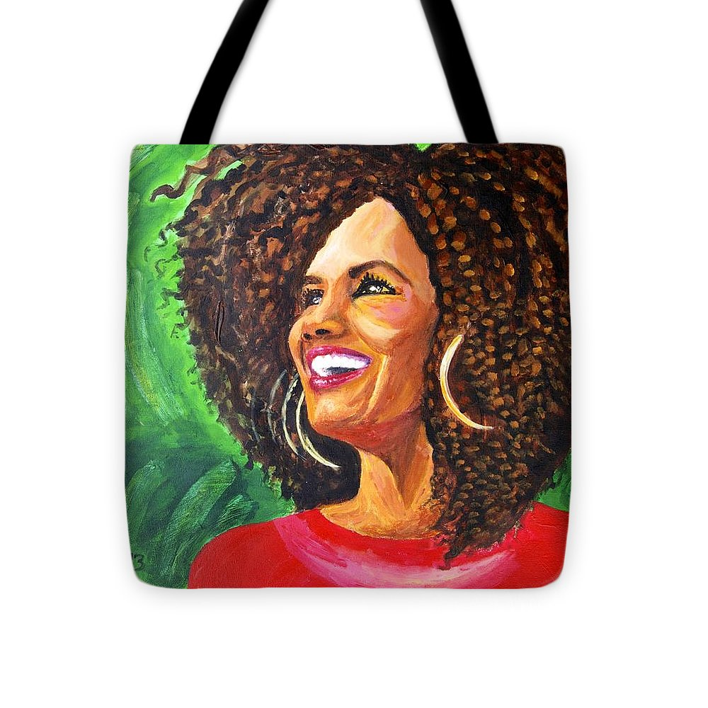 Portraits Tote Bag featuring the painting Fiercewomen Portrait Of Kimberly by JG Boccella