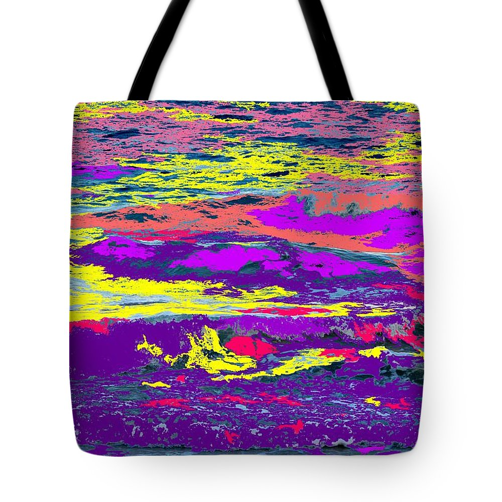 Ocean Tote Bag featuring the photograph Fiery Passion by Ian MacDonald