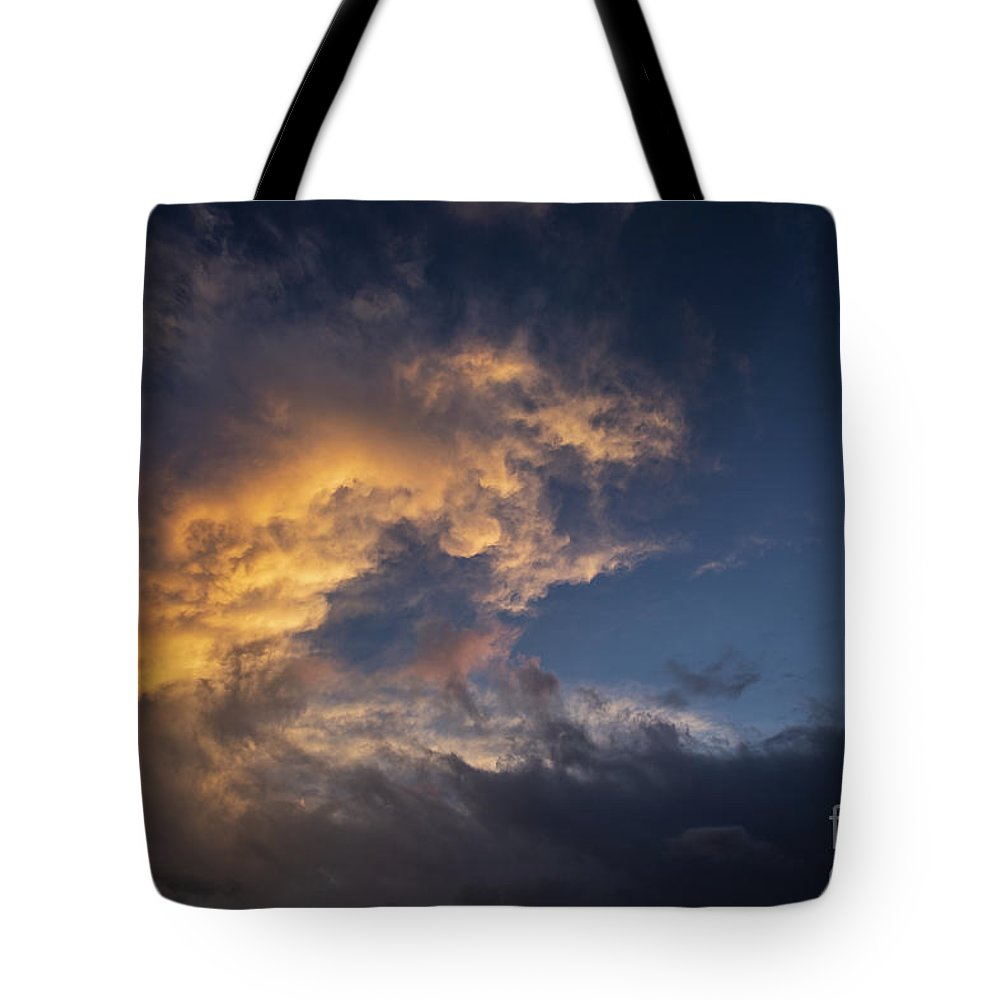 Sunset Tote Bag featuring the photograph Fiery Wave by James Guilford
