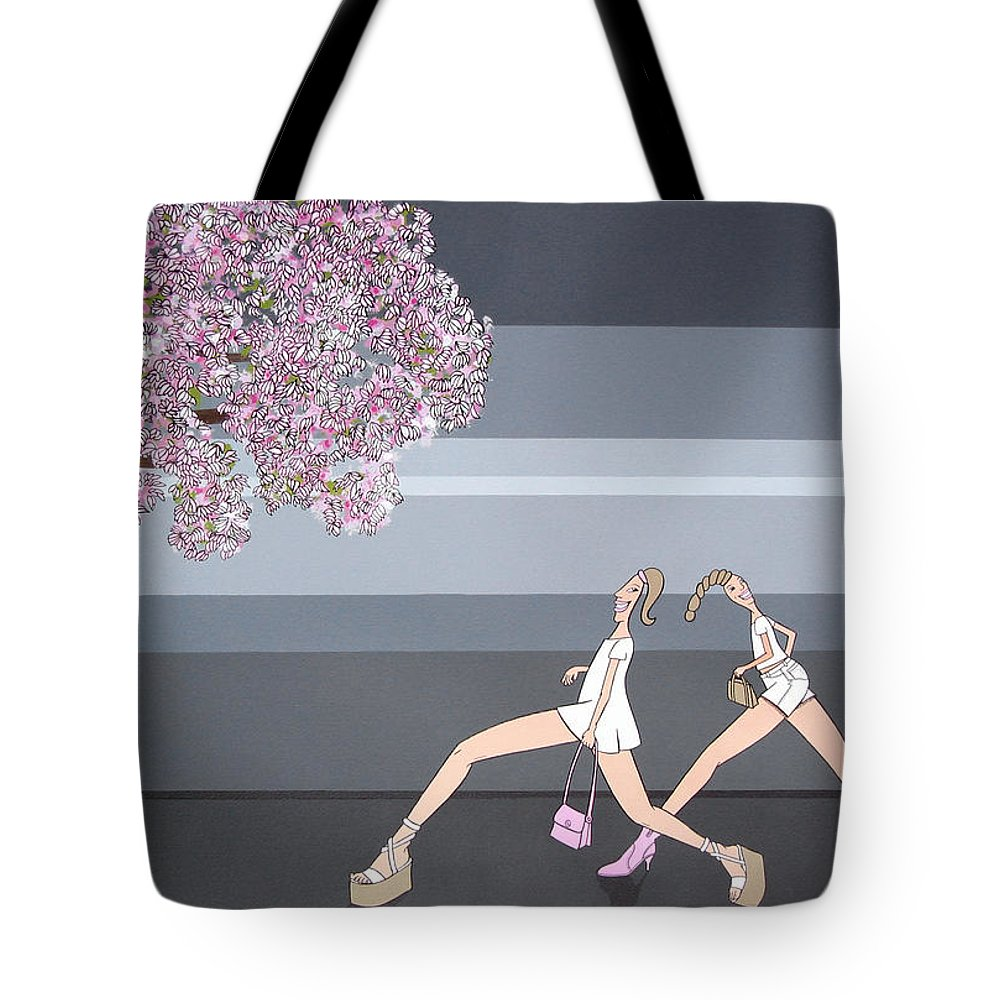 Girls Tote Bag featuring the painting Fifteen by Patricia Van Lubeck