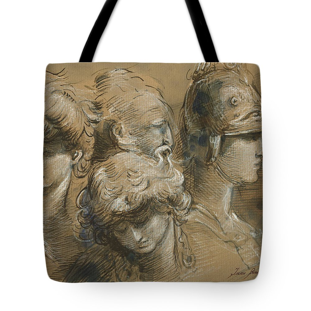 Classic Figures Tote Bag featuring the painting Figures Drawing by Juan Bosco