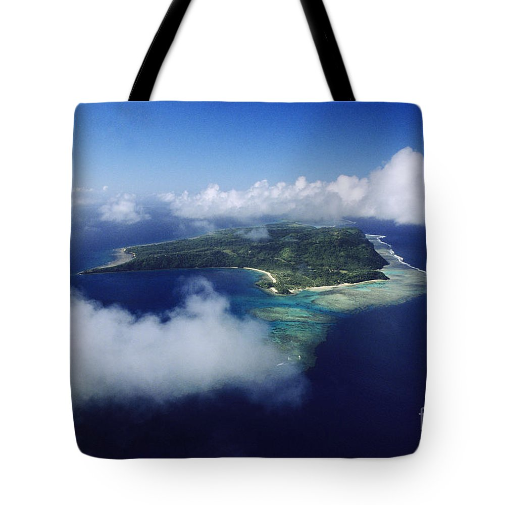 Aerial Tote Bag featuring the photograph Fiji Aerial by Larry Dale Gordon - Printscapes