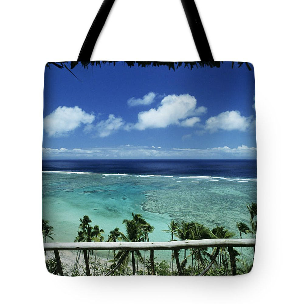 Architecture Tote Bag featuring the photograph Fiji, Wakaya Island by Larry Dale Gordon - Printscapes