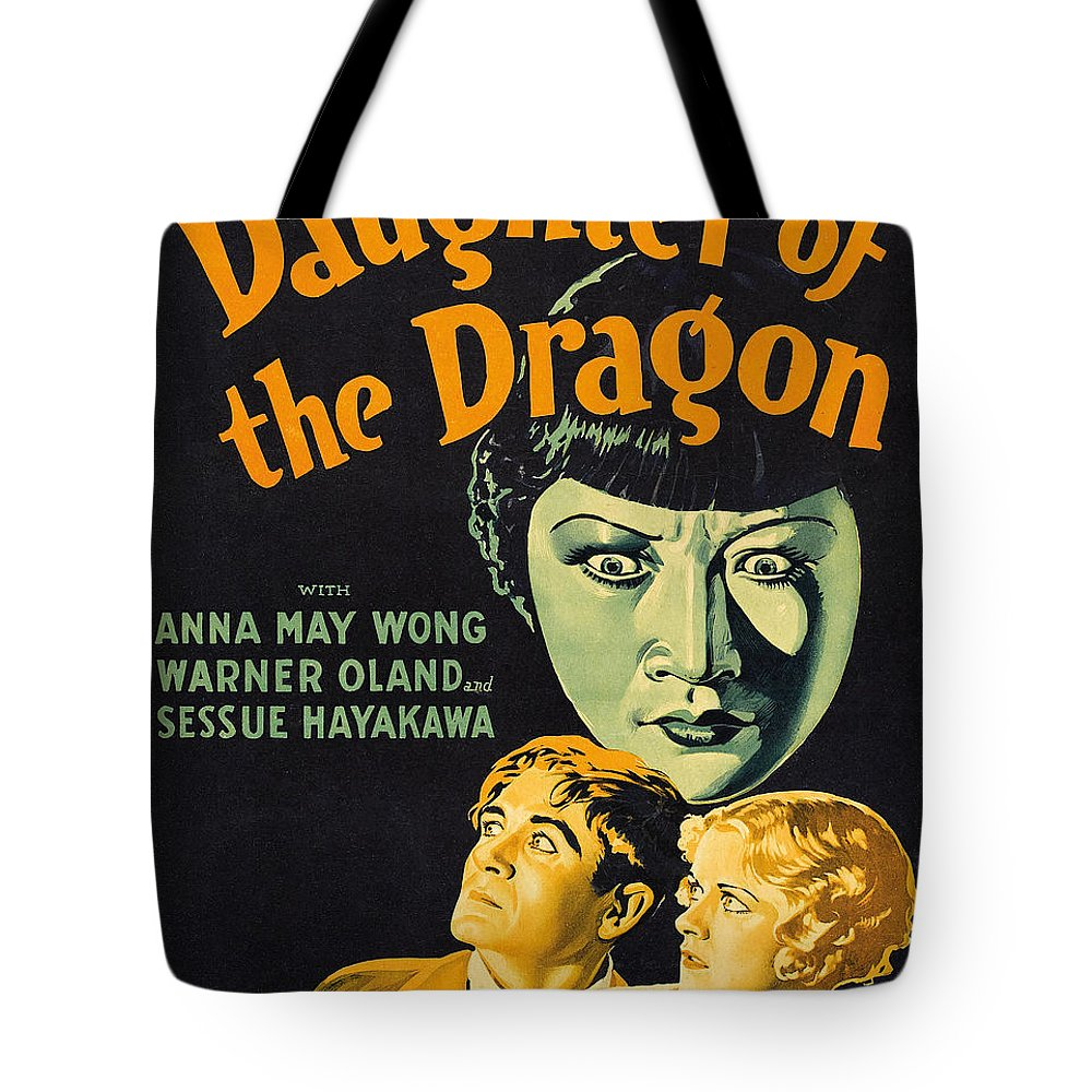 Film Poster For Daughter Of The Dragon Tote Bag featuring the painting Film Poster For Daughter Of The Dragon by Celestial Images