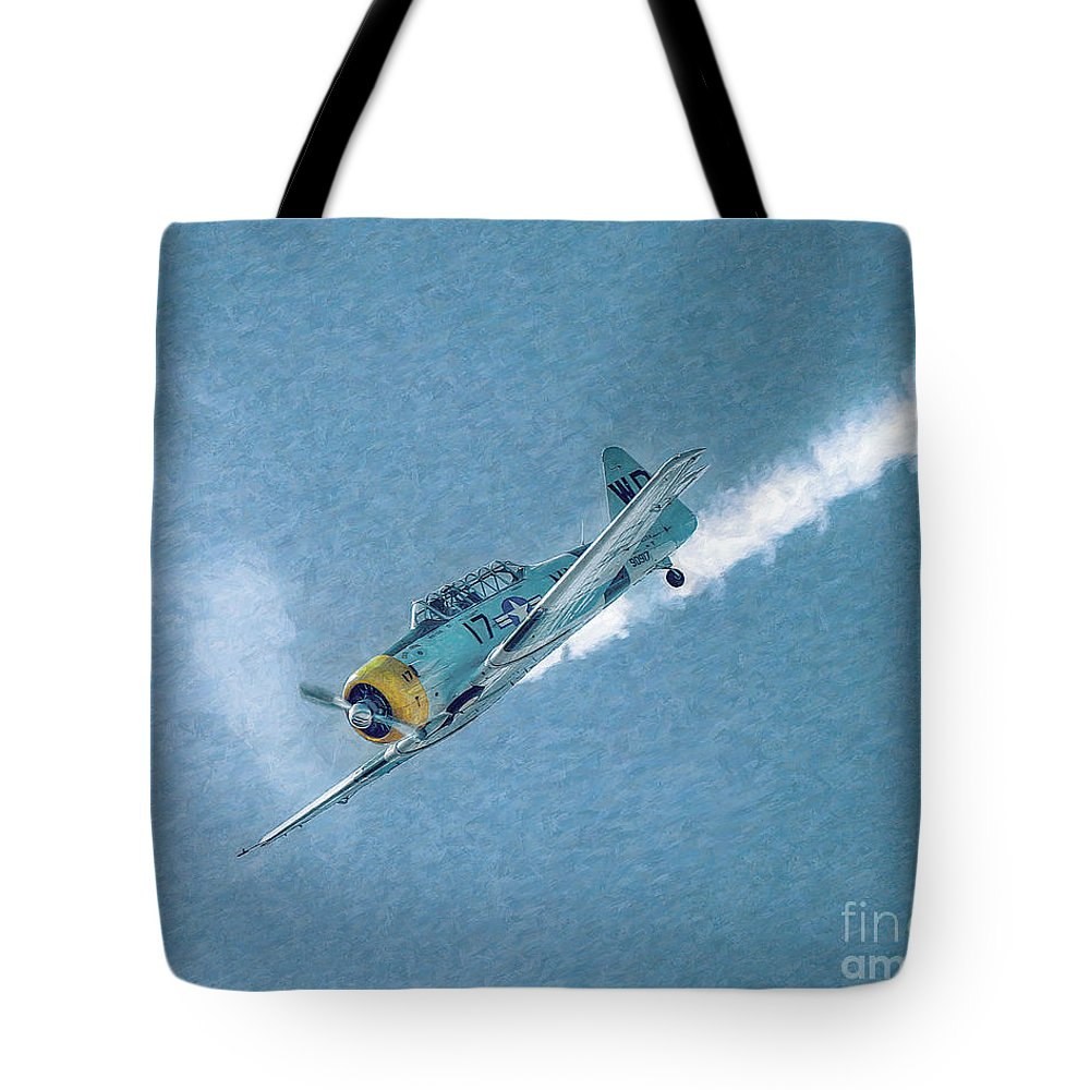 Airplane Tote Bag featuring the photograph Final Dive World War Two Airplane by Randy Steele